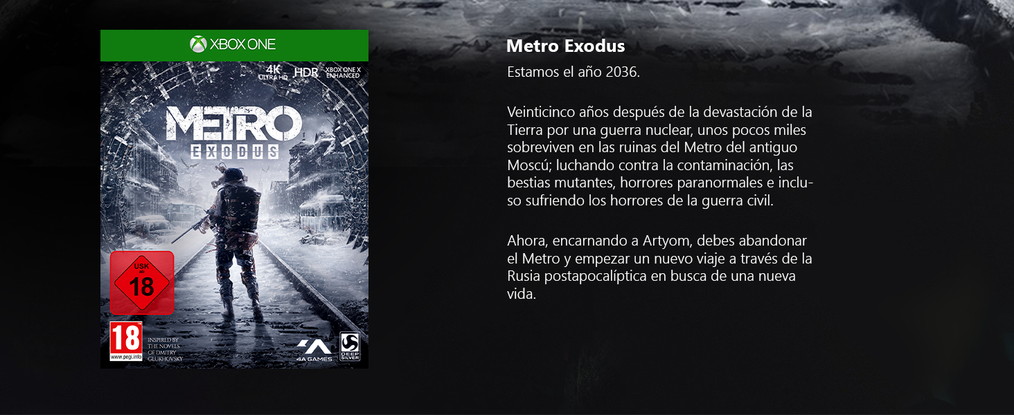 Microsoft Xbox One X - Consola 1 TB + Metro Exodus Collection ...