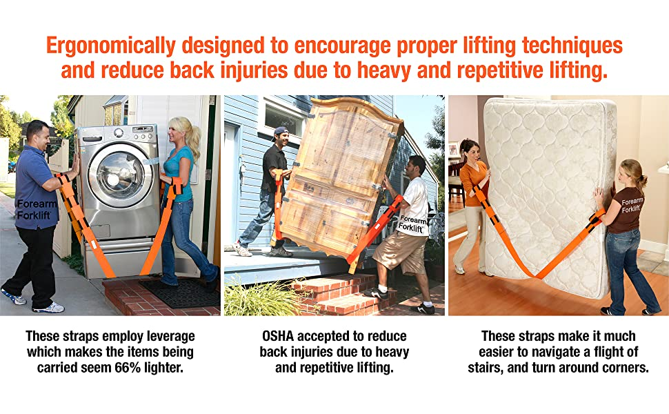 Designed to encourage proper lifting techniques and reduce back injuries due to heavy lifting.