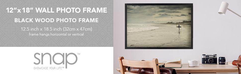 Amazon.com: Snap 12x18 Black Wood Wall Photo Frame: Home & Kitchen