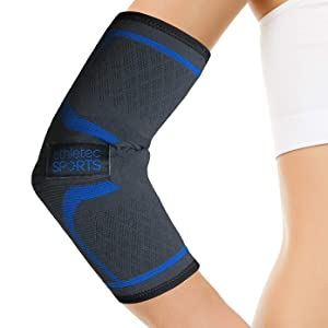 Elbow Sleeve Compression, Support Workouts, Arthritis, Tendinitis, Recovery Tennis Golfer's Elbow