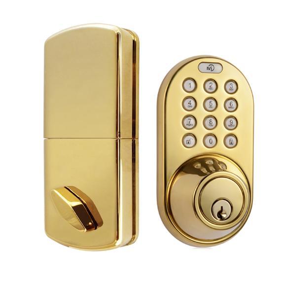 Milocks Df 02p Keyless Entry Deadbolt Door Lock With