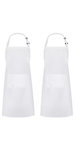 White Long Apron