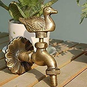 S&M Arte 553547 – Grifo en latón Rana Decorativo para Fuentes, Patios y Jardines con una Salida 1/2