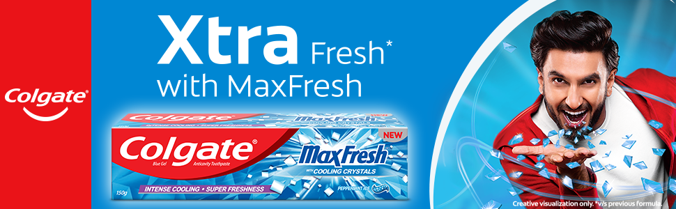 Colgate Maxfresh Peppermint Ice (Blue Gel)