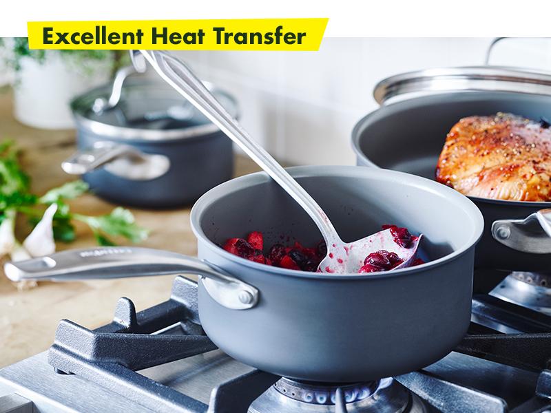 GreenPan, Chatham, Healthy Ceramic Nonstick, Cookware set, saucepan, easy clean, pfoa free, durable
