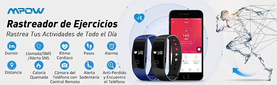 Mpow Pulsera Actividad Monitor de Pulso Cardíaco Pulsera ...