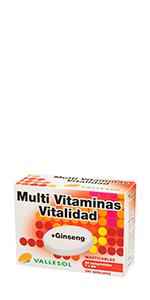 Multi vitaminas vitalidad