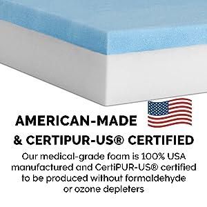 cetipur; united states; foam; certification