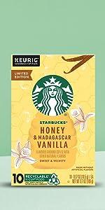 Starbucks Honey amp; Madagascar Vanilla Flavored Coffee K-Cup
