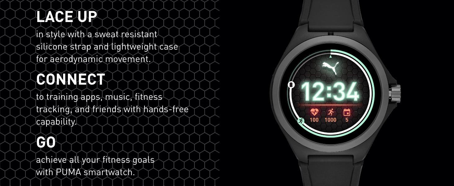 PUMA Digital Watches Digital Smart Watch Black Watch