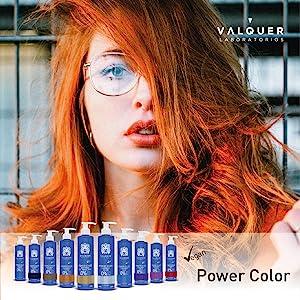 Válquer Professional Mascarilla Power Color cabellos teñidos. Vegano y sin sulfatos (Cobre). Potenciador color pelo- 275 ml