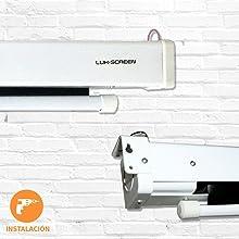 Pantalla de proyeccion electrica Luxscreen de 169