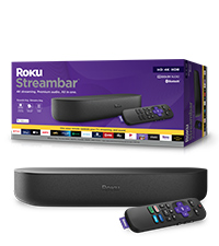 Roku Streambar 4K/HD/HDR 2020 streaming media player & premium audio, all in one