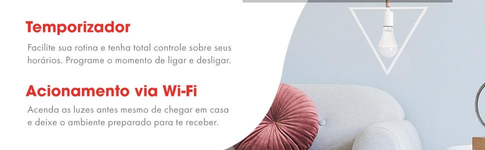 Temporizador, acionamento wifi, acionamento touch