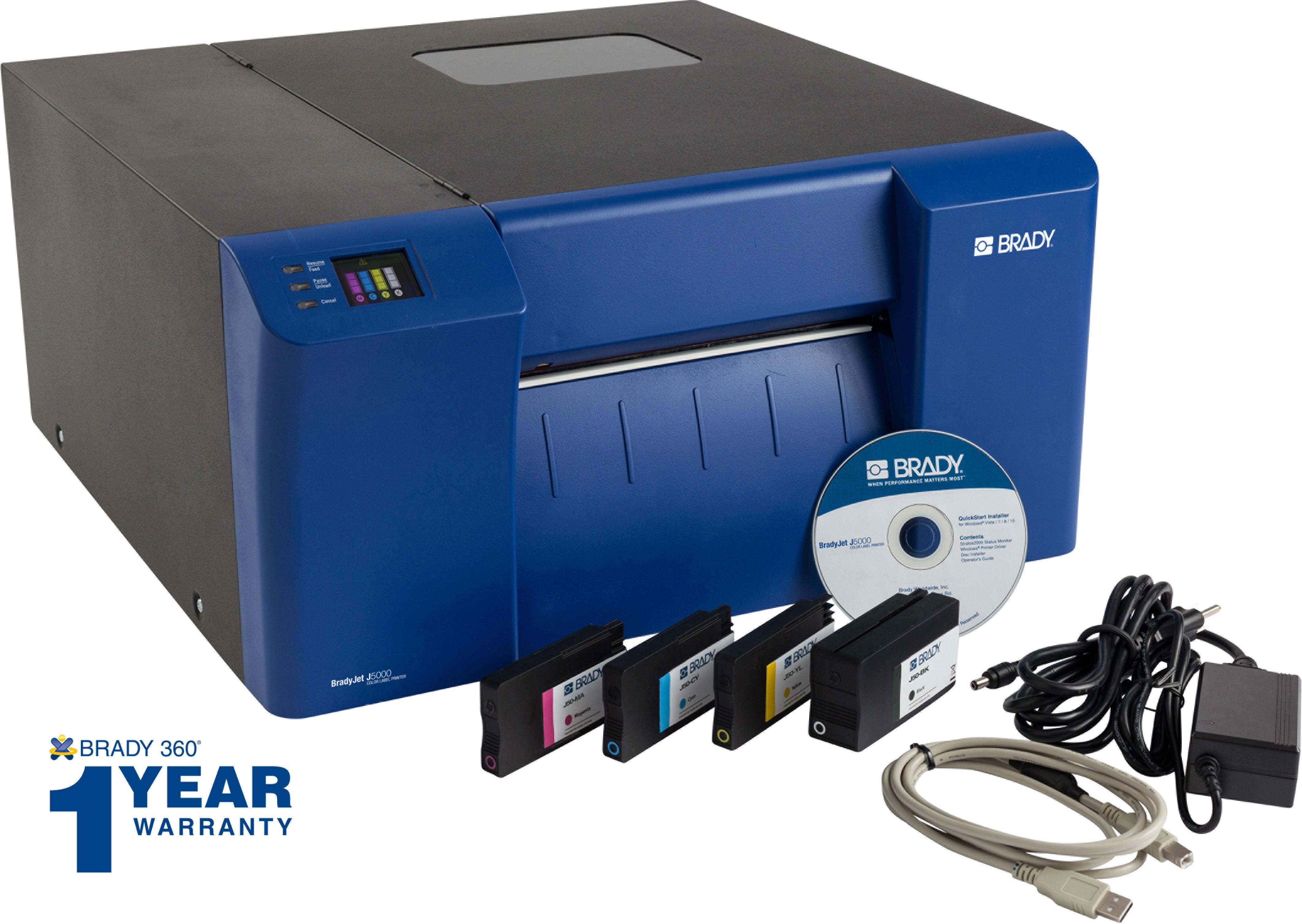 Amazon.com: Brady J5000 impresora de etiquetas a tinta ...