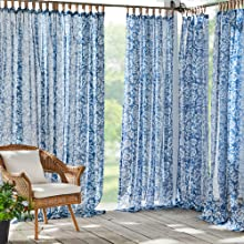 Matine Indoor Outdoor Curtain Panel Elrene Home Fashions
