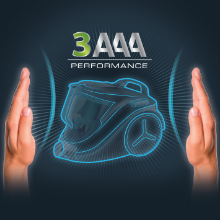 Rowenta aspirateur traineau sans sac RO3753EA compact power cyclonic parquet performance 3aaa