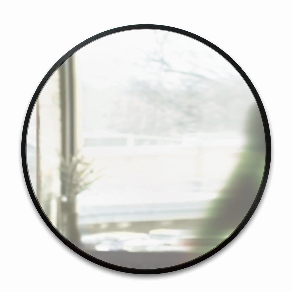 umbra hub wandspiegel runder spiegel f r diele badezimmer wohnzimmer und mehr schwarz 61cm. Black Bedroom Furniture Sets. Home Design Ideas