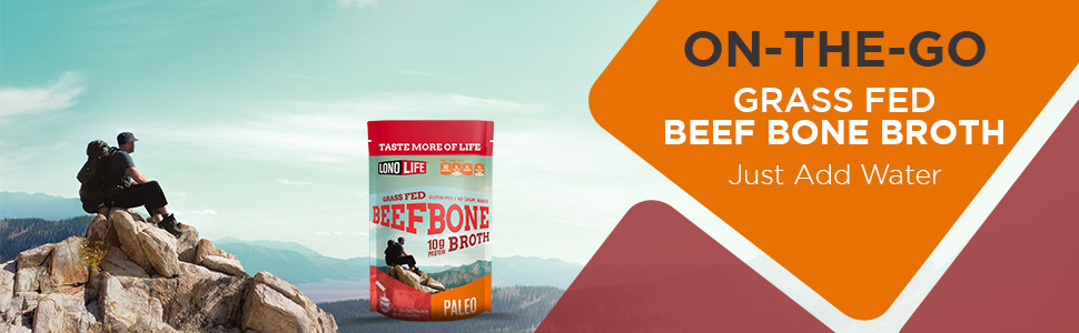 On The Go Grass Fed Beef Bone Broth Just Add Water