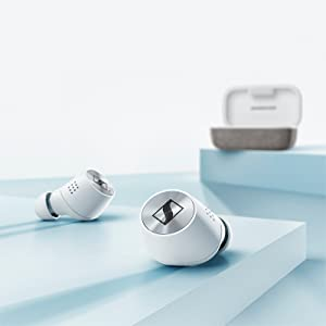 Sennheiser, MOMENTUM True Wireless, White, Earbuds, Charging Case