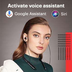 voice assistant, google assistant, siri, neckband bluetooth wirelessearphones,earbuds,earpods