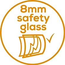 vidrio de seguridad de 8mm