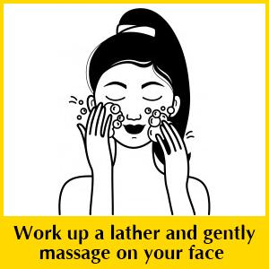 everyuth tulsi turmeric face wash, tulsi face wash, turmeric face wash