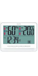 タニタ TANITA 温湿度計 デジタル 大画面 ホワイト TT-538 WH 温度・湿度の快適レベルを5段階でお知らせ
