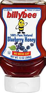 Billy Bee 100% Pure Natural Blueberry Honey, 13 oz