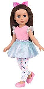 Candice 14-inch doll Glitter Girls Battat posable doll clothes outfits accessories wellie wishers