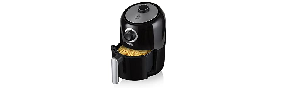 tower t17026 air fryer with 30 minute timer 1000 w 1 6. Black Bedroom Furniture Sets. Home Design Ideas
