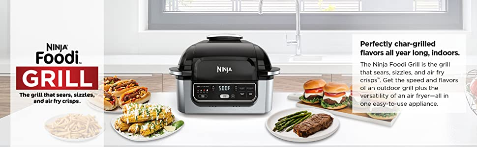 Ninja Foodi 5-in-1 4-qt. Air Fryer, Roast, Bake, Dehydrate Indoor Electric Grill (AG301), 10