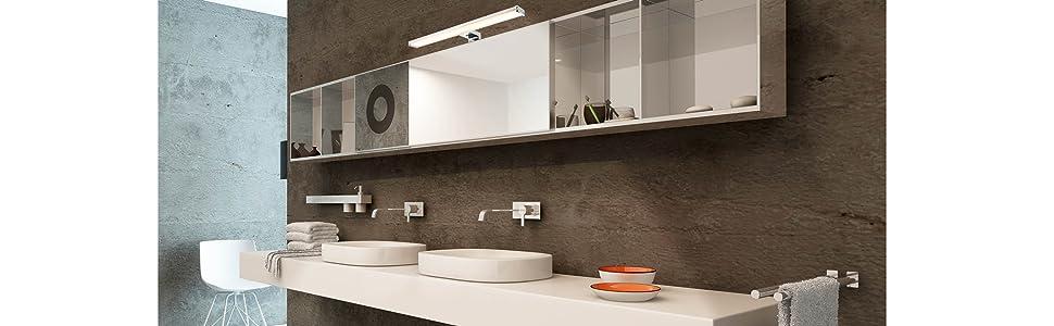 LED Spiegelleuchte Spiegellampe Schrankleuchte Bad Badezimmer Schrank Leuchte 8w neutralweiß 4000K