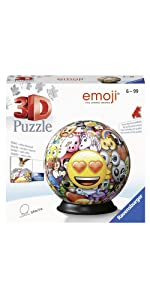 puzzle 3d ravensburger emoji rond ball