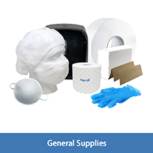 Karat janitorial supplies,beard cover,dust mask,gloves,thermal paper roll