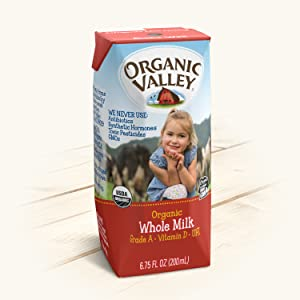 organic milk, milk boxes, organic whole milk, pasteurized milk, homogenized milk, organic valley