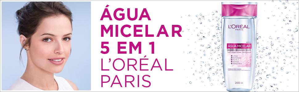 loreal, loreal paris, água, água micelar, 5 em 1