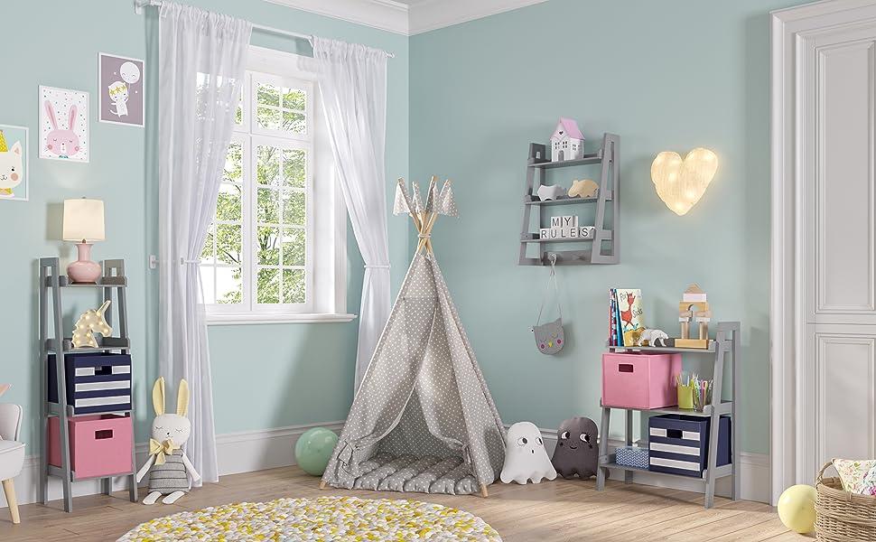 ladder shelf collection kids bedroom playroom