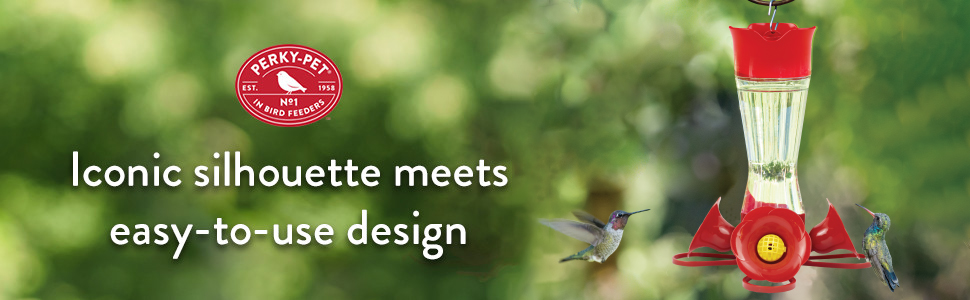 hummingbird feeder, pinch waist feeder, red feeder, glass hummingbird feeder, bee guards
