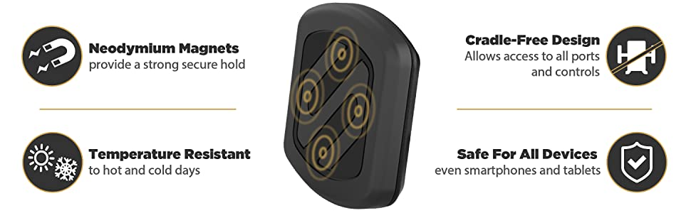 premium features of magnetic mounts