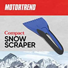 compact ice snow scraper rubber handle soft ergonomic grip winter snow brush survival kit handle