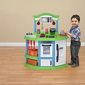 Amazon Com American Plastic Toys Cozy Comfort Kitchen Playset Toys Games