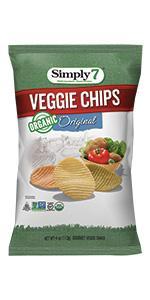 peanut free, treenut free, gluten free, organic veggie chips
