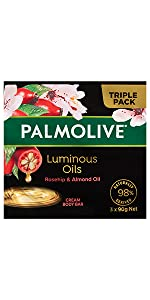 Palmolive Luminous Oils Rosehip & Almond Oil Cream Body Bar 3 x 90g