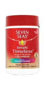 Seven Seas, Cod liver oil, Omega-3, A-Z multivitamins, good health, active lifestyle, supplements