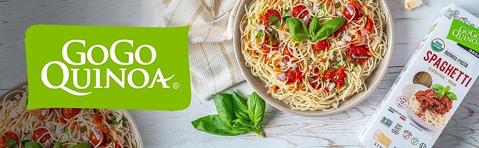 GoGo Quinoa espaguetis orgánicos, sin gluten, superalimento ...
