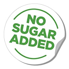 no sugar added, zero sugar, sugar free, no artificial sweeteners