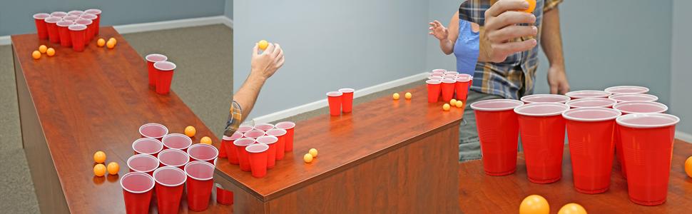 Amazon.com: Bastante Odd Novelties 24 Tazas & Ping Pong ...
