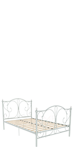 Vida Designs Barcelona Petit lit double en métal Blanc