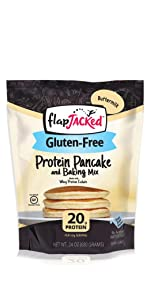 flapjacked gluten-free buttermilk protein pancake and baking mix